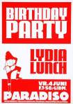 flyer Lydia Lunch