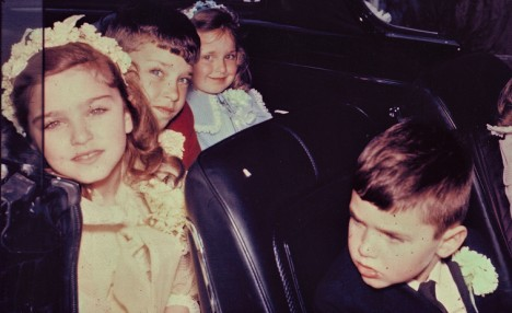 madonna-going-to-her-first-communion-in-1967-with-her-siblings-marty-melanie-and-christopher-in-front