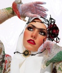 unibrow fashion shoot