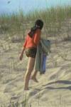 edie at the beach