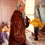 Little Edie Beale withflowers.