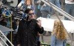 Tim Burton in the set of his new film Alice in Wonderland