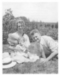 Aurelia and Otto Plath with Sylvia,1933