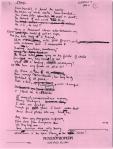 "original draft of Sylvia Plath's poem""Stings,"""