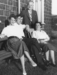 Sylvia Plath and Ted Hughes with his parents, William and Edith,1956