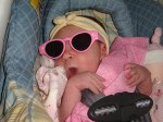 Caylee always in sunglasses