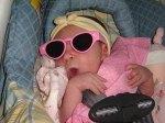 Caylee always in sunglasses