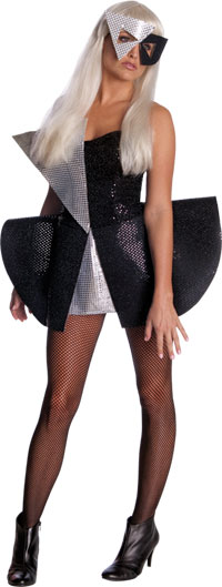 Lady-Gaga-Black-Sequin-Dress